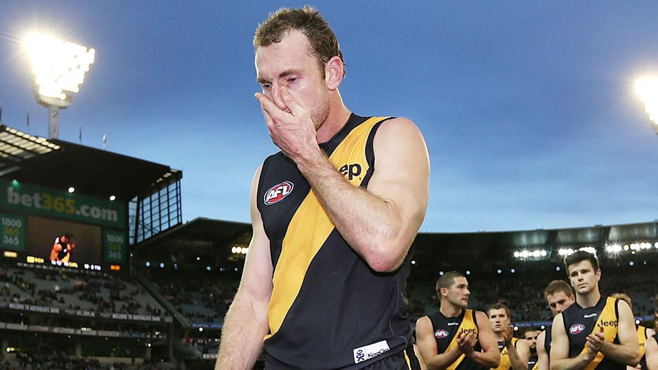 Seen here, former Richmond AFL player Shane Tuck, who died in July 2020.