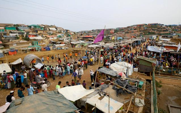 Almost a million Rohingya refugees from Burma are living in camps in Bangladesh - REUTERS