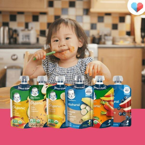 Convenient Baby Food: Gerber Purees Pouch