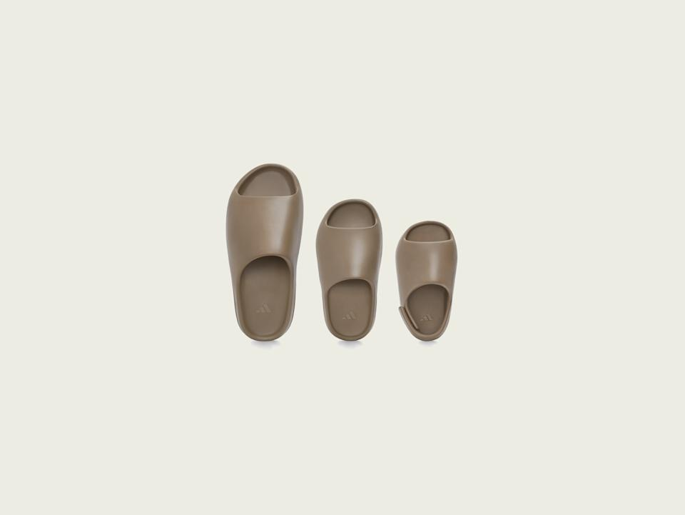 Adidas + Kanye West slides in Earth Brown. (PHOTO: adidas)