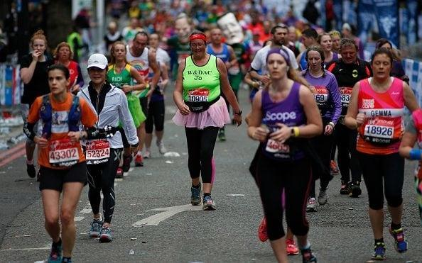 Runners at the 2015 London Marathon - Credit: Alan Crowhurst/Getty