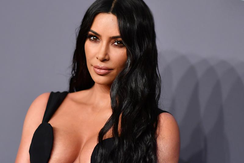 US Media Perspective Kim Kardashian West Will Attend amfAR Gala New York at Cipriani Wall Street in New York City on February 6, 2019. (Photo by ANGELA WEISS / AFP) (Photo credit to be read ANGELA WEISS / AFP / Getty Images)