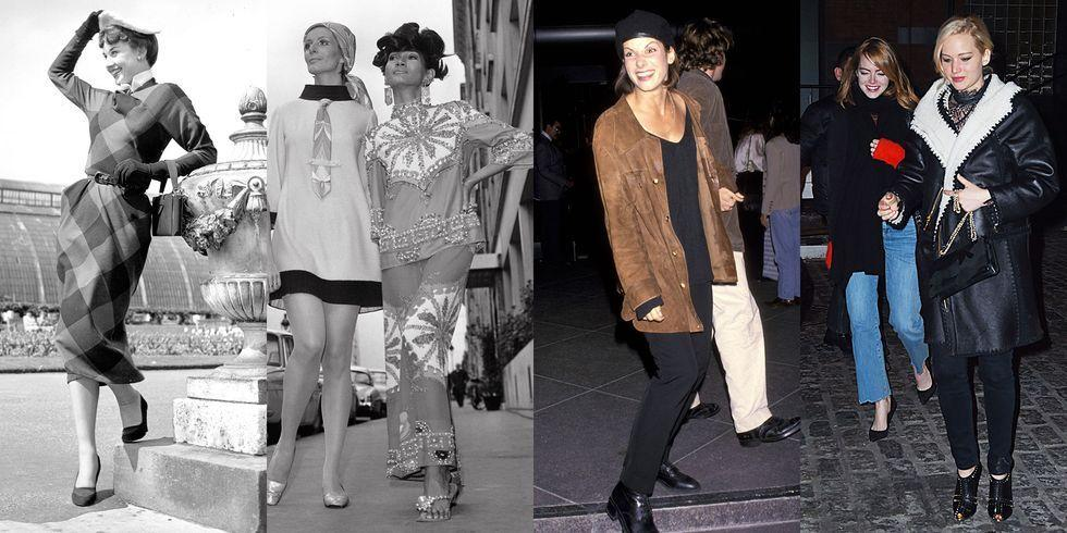 <p>As summer comes to an end, one of the only things that brings solace is the arrival of fall fashion. But our ideas about what constitutes as style for the season have evolved over the decades. Take a look back at the trends that have stood the test of time plus the ones that made briefer appearances.</p>