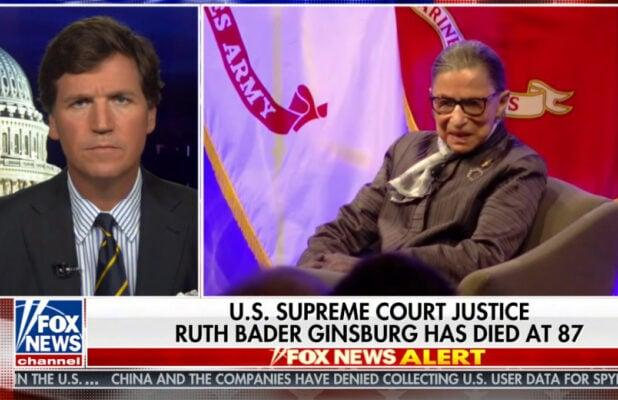 Tucker Carlson Is Not Happy Ginsburg Didn't Want Trump to Pick Her Replacement (Video)
