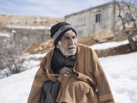 Ahmed, 66, packed up his life in Syria and fled with his family to Arsal in 2014 (Paddy Dowling/Qatar Charity)