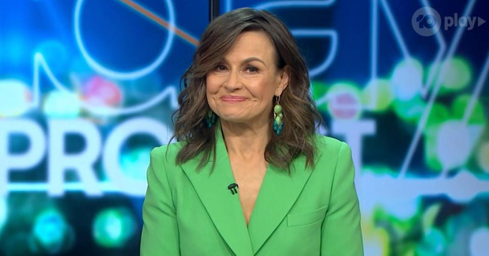 The Project's Lisa Wilkinson tears up