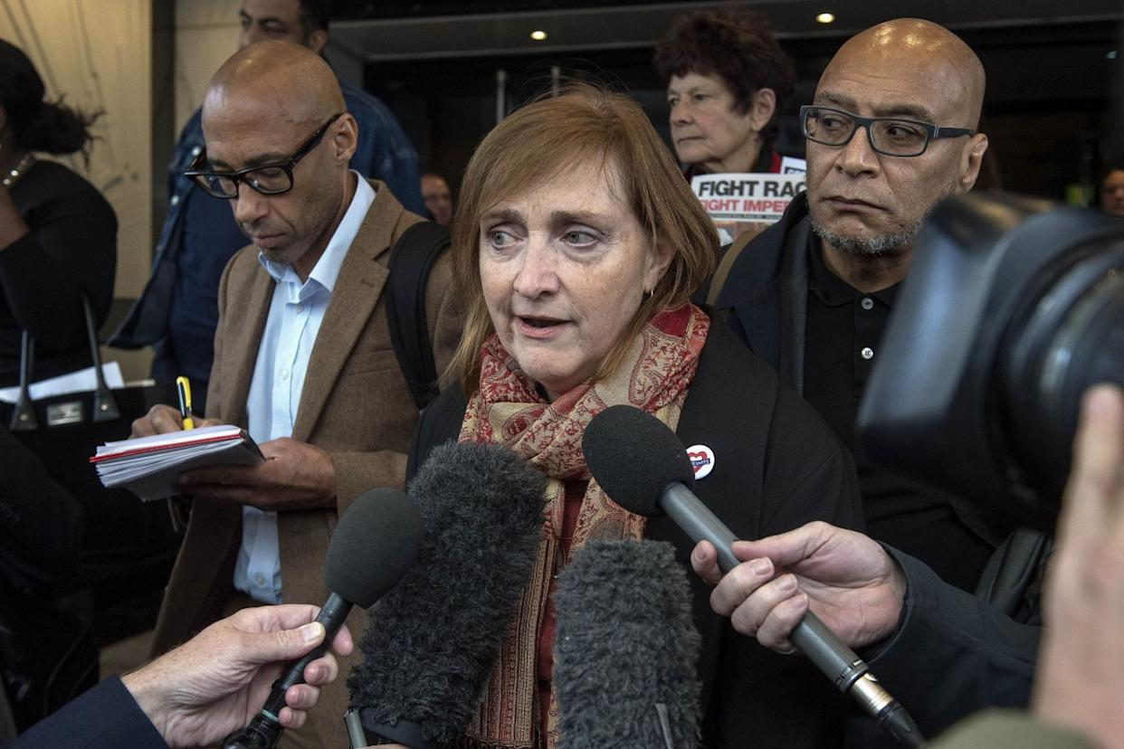 Emma Dent Coad MP for Kensington, after the first preliminary hearing in the Grenfell Tower public inquiry, at the Connaught Rooms in central London (Victoria Jones/PA)