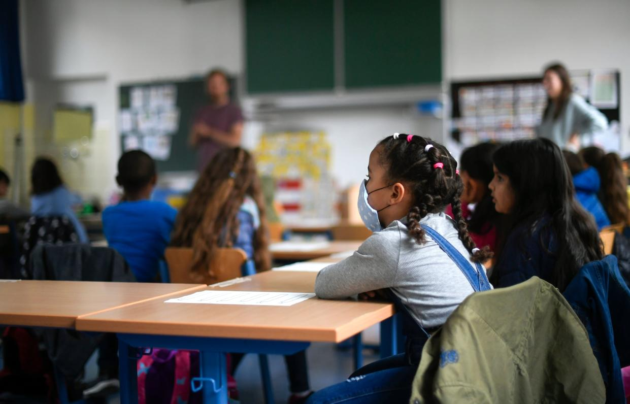 A research article published in the journal Science found that children are more likely to be infected with B.1.1.7 than other variants of concern. (Getty Images)