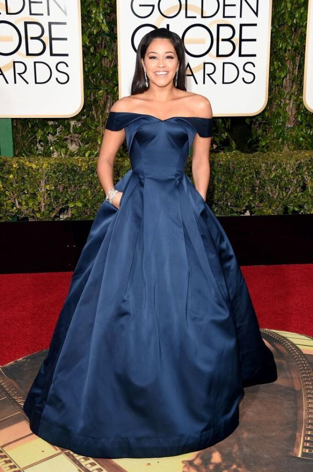 Best: Gina Rodriguez in Zac Posen at the 73rd Annual Golden Globe Awards.