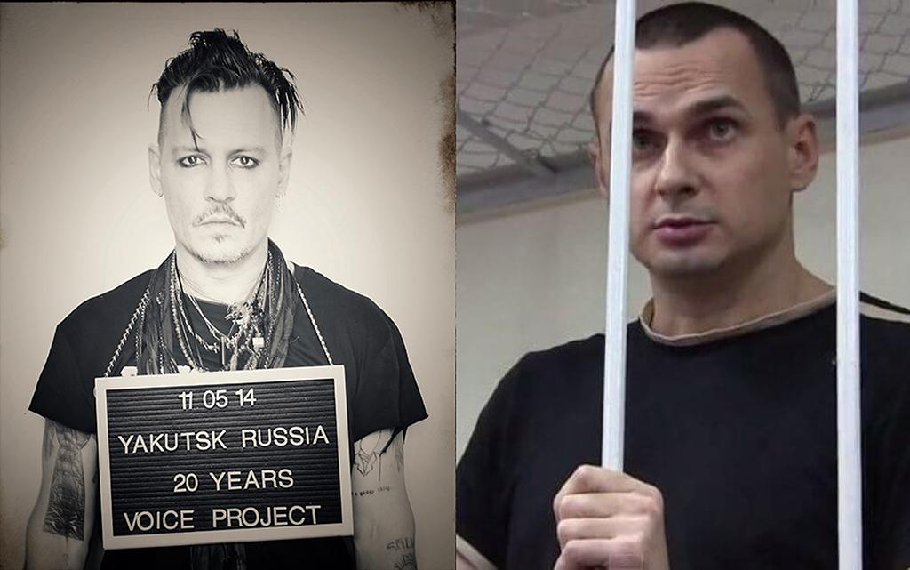 <p>Depp is representing Oleg Sentsov, a Ukrainian filmmaker. When Crimea was annexed by Russia, he became a prime target to make an example of in order to stifle dissent. He's been tortured and sentenced to 20 years in prison. </p>