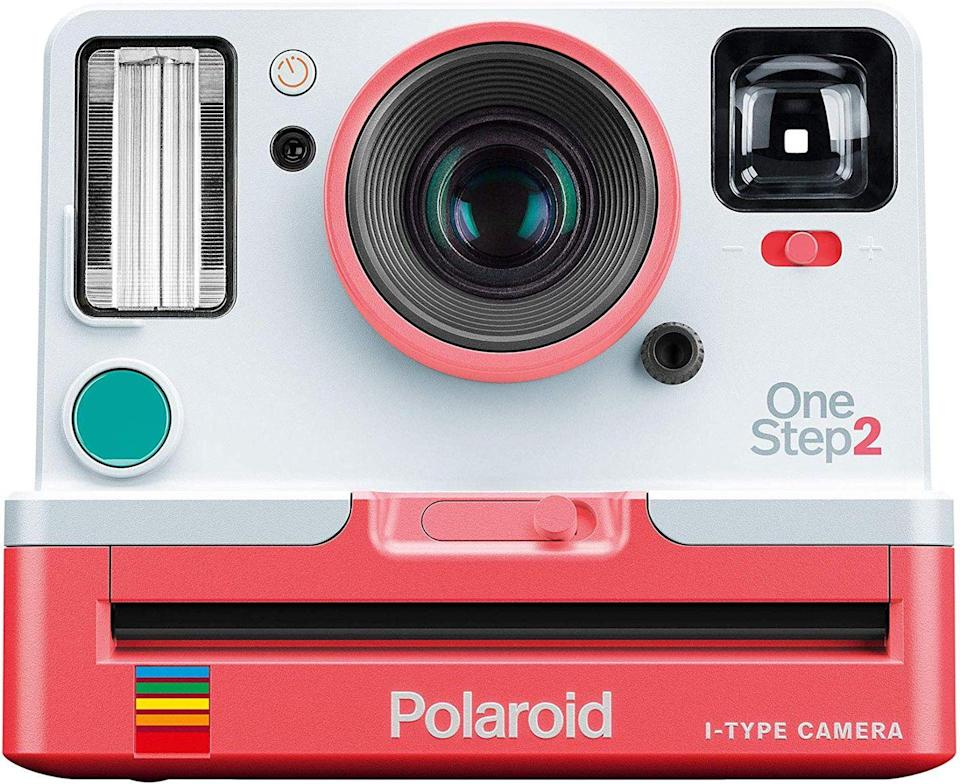 """<p><a class=""""link rapid-noclick-resp"""" href=""""https://www.amazon.co.uk/Polaroid-Originals-OneStep-Instant-Camera/dp/B07T8BJ4MC/ref=pd_sbs_421_4/261-3684867-1691562?_encoding=UTF8&pd_rd_i=B07T8BJ4MC&pd_rd_r=2d6fd509-ff5c-4765-9fbe-ed2a44f326c9&pd_rd_w=jXYxg&pd_rd_wg=Stiuz&pf_rd_p=96cae456-8d7a-4bc1-91c7-9b20b4dfd7c9&pf_rd_r=0GQ71EHHWQ8G9NFDEDVC&psc=1&refRID=0GQ71EHHWQ8G9NFDEDVC&tag=hearstuk-yahoo-21&ascsubtag=%5Bartid%7C1923.g.22798845%5Bsrc%7Cyahoo-uk"""" rel=""""nofollow noopener"""" target=""""_blank"""" data-ylk=""""slk:SHOP"""">SHOP</a></p><p>This rejig of the original OneStep simplifies things and adds a few tweaks - the viewfinder's easier to use, the flash is more powerful, it's got a self-timer and there's a fresh two-tone paint job - so you're pretty much ready to go straight out of the box. Just add some film and you're away.</p><p>Amazon, £91</p>"""