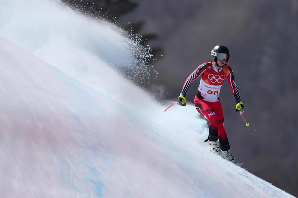 <p>during the Ladies' Alpine Combined on day thirteen of the PyeongChang 2018 Winter Olympic Games at Yongpyong Alpine Centre on February 22, 2018 in Pyeongchang-gun, South Korea. (Getty) </p>