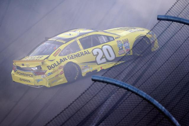 AVONDALE, AZ - NOVEMBER 13: Matt Kenseth, driver of the #20 Dollar General Toyota, has an on track incident during the NASCAR Sprint Cup Series Can-Am 500 at Phoenix International Raceway on November 13, 2016 in Avondale, Arizona. (Photo by Sean Gardner/Getty Images) | Getty Images