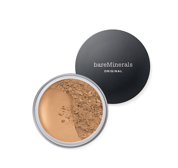 """<h3>Bareminerals</h3> <br><strong>Top Score:</strong> <strong>The Mineral Makeup Must-Have<br></strong><br><strong>Dates:</strong> 6/30 — 7/6<br><strong>Sale:</strong> Take $10 off $75, $20 off $100, plus free shipping on any purchase<br><strong>Promo Code: </strong>FIREWORK<br><br><em><strong>Shop</strong> <a href=""""https://fave.co/31x7x0G"""" rel=""""nofollow noopener"""" target=""""_blank"""" data-ylk=""""slk:bareminerals.com"""" class=""""link rapid-noclick-resp"""">bareminerals.com</a></em><br><br><strong>bareMinerals</strong> Original Loose Powder Foundation SPF 15, $, available at <a href=""""https://go.skimresources.com/?id=30283X879131&url=https%3A%2F%2Ffave.co%2F2Ak80bu"""" rel=""""nofollow noopener"""" target=""""_blank"""" data-ylk=""""slk:bareMinerals"""" class=""""link rapid-noclick-resp"""">bareMinerals</a><br><br><br><br><br><br>"""