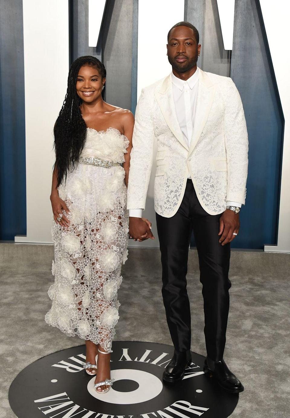 """<p><strong>Age gap:</strong> 10 years</p><p><a href=""""https://www.goodhousekeeping.com/life/entertainment/a27546355/gabrielle-union-husband-dwayne-wade/"""" rel=""""nofollow noopener"""" target=""""_blank"""" data-ylk=""""slk:Gabrielle and Dwyane"""" class=""""link rapid-noclick-resp"""">Gabrielle and Dwyane</a> are the couple that everyone loves to love. They officially got together in 2008 and now have a daughter together, Kaavia James.</p>"""
