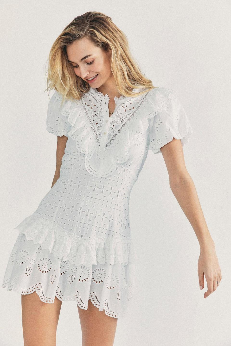 <p>If you need us, we'll be dreaming of this <span>LoveShackFancy Fritzi Mini Dress</span> ($425).</p>