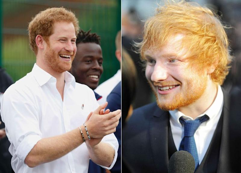 Prince Harry joked about Ed Sheeran looking like him in March this year. Source: Getty