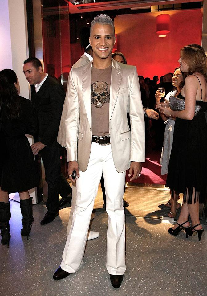 """The eternally orange Jay Manuel should know better than to wear pleated pants. Flat front, always! Donato Sardella/<a href=""""http://www.wireimage.com"""" target=""""new"""">WireImage.com</a> - May 13, 2008"""