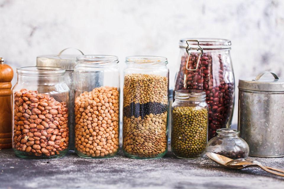 """<p><a href=""""https://www.goodhousekeeping.com/health/diet-nutrition/a26090747/chickpea-pasta/"""" rel=""""nofollow noopener"""" target=""""_blank"""" data-ylk=""""slk:Chickpeas"""" class=""""link rapid-noclick-resp"""">Chickpeas</a>, lentils, beans, and legumes also provide antioxidants, vitamin B6, and magnesium. They're protein-rich powerhouses, so try them as a swap for red meat in sautés and in stir-fry dishes</p>"""