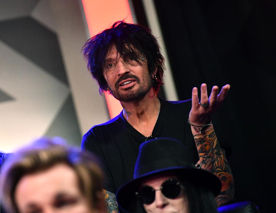 Tommy Lee of Motley Crue speaks during the press conference for THE STADIUM TOUR DEF LEPPARD - MOTLEY CRUE - POISON at SiriusXM Studios on December 04, 2019 in Los Angeles, California. (Photo by Emma McIntyre/Getty Images for SiriusXM)