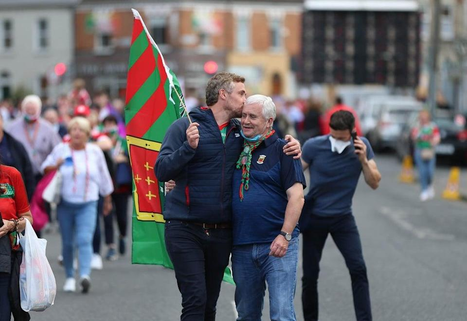 Tyrone played Mayo in the All Ireland football final (Damien Storan/PA) (PA Wire)
