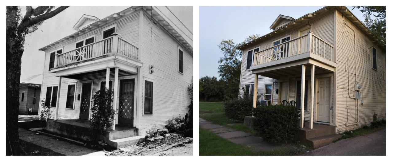 Combination picture shows (L) the former residence of Lee Harvey Oswald at 214 West Neely Street in the Oak Cliff neighborhood of Dallas, Texas in an undated handout photograph from the Dallas Police Department's John F. Kennedy assassination collection taken in 1963 and (R) the same site on November 12, 2013. The City of Dallas will hold commemoration ceremonies on November 22, 2013 marking the 50th anniversary of the assassination of President John F. Kennedy. REUTERS/Dallas Police Department/Dallas Municipal Archives/University of North Texas/Handout (L) and Adrees Latif (R) (UNITED STATES - Tags: POLITICS ANNIVERSARY CRIME LAW) ATTENTION EDITORS - THE IMAGE ON LEFT WAS PROVIDED BY A THIRD PARTY. FOR EDITORIAL USE ONLY. NOT FOR SALE FOR MARKETING OR ADVERTISING. MANDATORY CREDIT AS WRITTEN