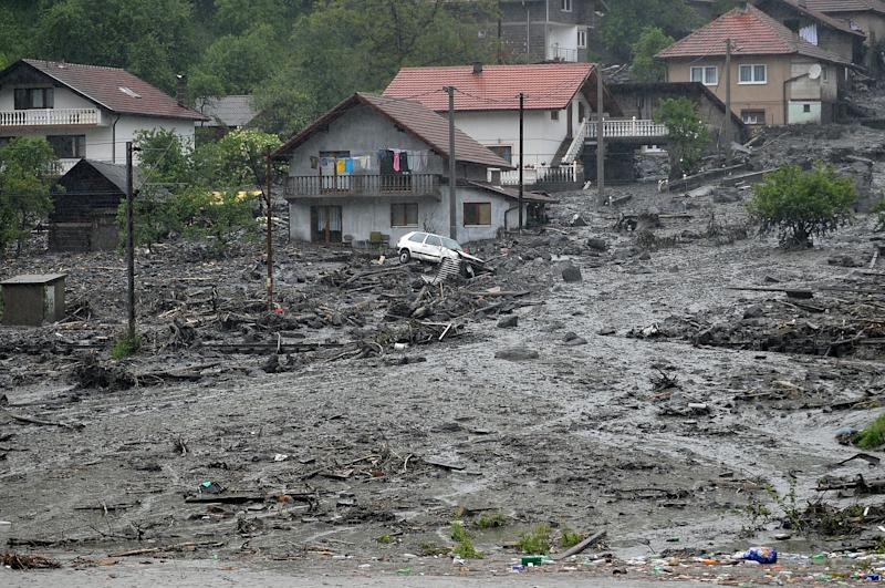 The earthquake-hit Bosnian town of Zenica was also struck by severe flooding in May 2014