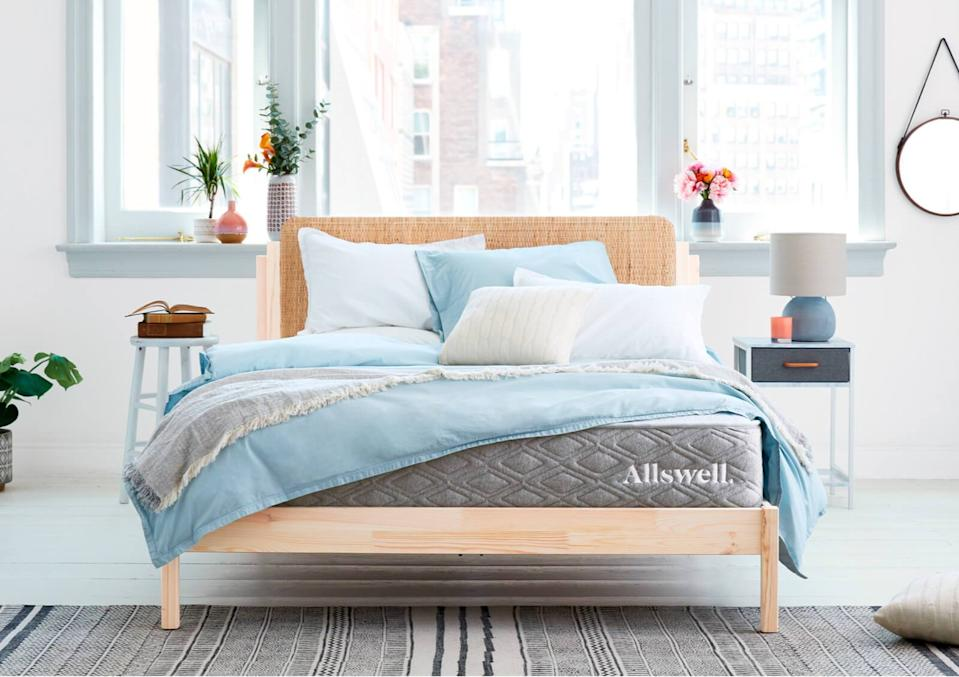 "<h2>Mattresses & Mattress Toppers</h2> <br><h3><a href=""https://allswellhome.com"" rel=""nofollow noopener"" target=""_blank"" data-ylk=""slk:Allswell"" class=""link rapid-noclick-resp"">Allswell</a></h3><br><strong>Sale:</strong> Take 15% off The Luxe and Supreme mattresses<br><br><strong>Dates:</strong> Now - July 6<br><br><strong>Promo Code: </strong>SLEEP15<br><br><strong>Allswell</strong> The Allswell Luxe Hybrid, $, available at <a href=""https://go.skimresources.com/?id=30283X879131&url=https%3A%2F%2Fallswellhome.com%2Fproducts%2Fluxe-classic-firmer-hybrid-mattress%3Fvariant%3D29475103473761"" rel=""nofollow noopener"" target=""_blank"" data-ylk=""slk:Allswell"" class=""link rapid-noclick-resp"">Allswell</a>"