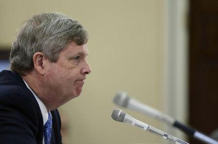 US Secretary of Agriculture Tom Vilsack testifies before a House Appropriations Subcommittee in Washington
