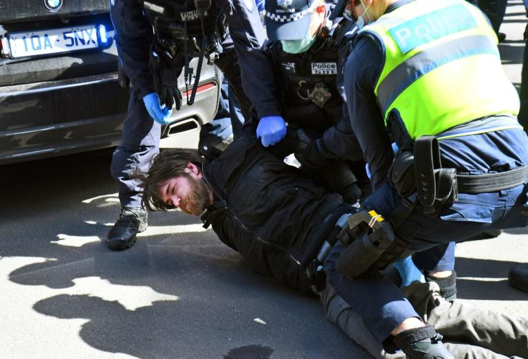 Dozens arrested at Melbourne anti-lockdown protest