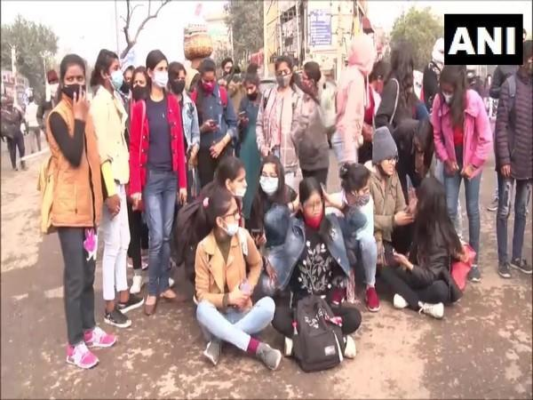 A visual from the protest site. (Photo/ANI)