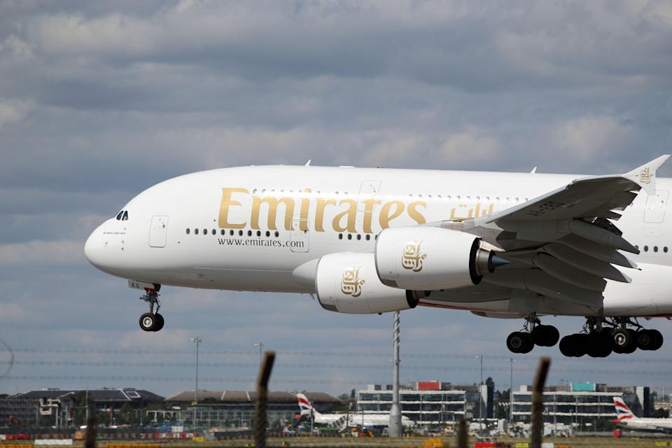 The head of airline Emirates' UK operations has expressed his frustration that the United Arab Emirates is still on the red travel list (Steve Parsons/PA) (PA Archive)