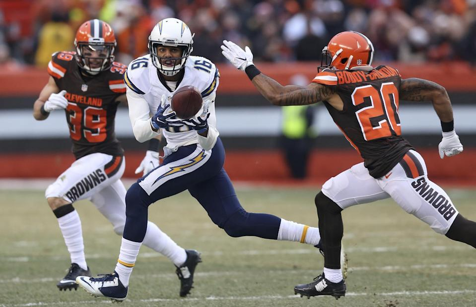 San Diego Chargers wide receiver Tyrell Williams is being overlooked in early fantasy drafts. (AP Photo/Aaron Josefczyk)