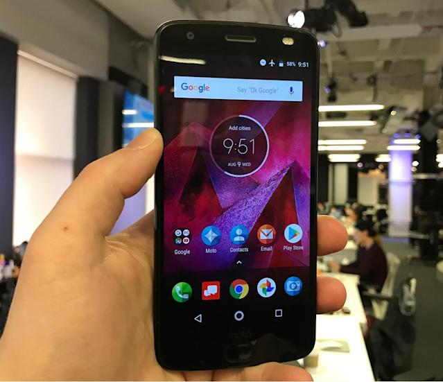 The Moto Z2 Force's display us unbreakable, but it can still be scratched.