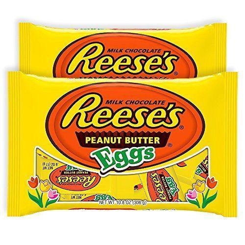 """<p><strong>Reese's</strong></p><p>amazon.com</p><p><strong>$13.99</strong></p><p><a href=""""https://www.amazon.com/dp/B06XGPBRP1?tag=syn-yahoo-20&ascsubtag=%5Bartid%7C10070.g.2201%5Bsrc%7Cyahoo-us"""" rel=""""nofollow noopener"""" target=""""_blank"""" data-ylk=""""slk:Shop Now"""" class=""""link rapid-noclick-resp"""">Shop Now</a></p><p>Of course, we can't forget regular Reese's Peanut Butter Eggs. They remain among the <a href=""""http://www.delish.com/holiday-recipes/easter/news/a52315/popular-easter-candy-2017/"""" rel=""""nofollow noopener"""" target=""""_blank"""" data-ylk=""""slk:most popular Easter candy"""" class=""""link rapid-noclick-resp"""">most popular Easter candy</a> of recent years.</p>"""