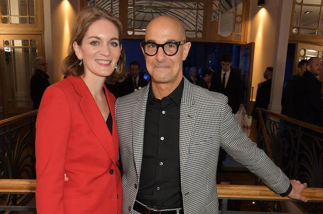 Felicity Blunt and Stanley Tucci pictured in 2020 (Photo: David M. Benett via Getty Images)