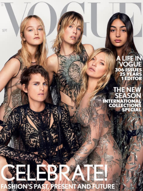 <p><b><b><b>Alexandra Shulman's last British Vogue issue was always going to be memorable. The, now former, editor-in-chief of the publication selected five established and up-and-coming models to grace the cover, including Stella Tennant and Kate Moss. </b></b></b></p>