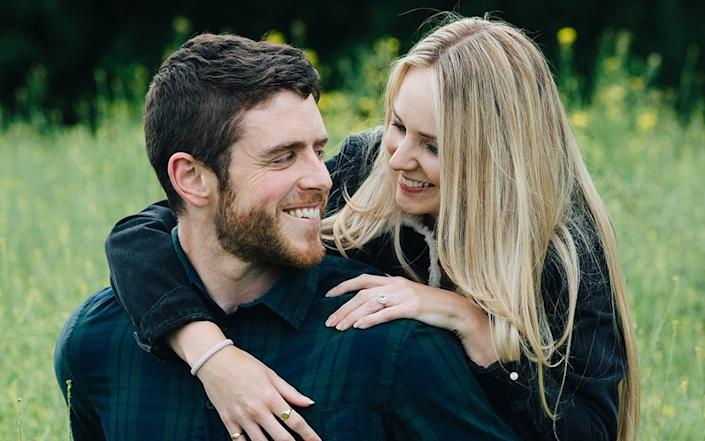 PC Andrew Harper and his widow Lissie, who is launching a campaign for 'Andrew's Law', which would see criminals convicted of killing emergency services workers spend the rest of their lives in prison - Mark Lord Photography