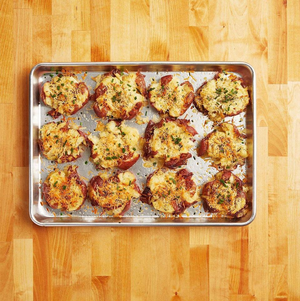 """<p>Congrats, crashed hot potatoes! You were the <strong>ultimate Pioneer Woman recipe in 2020</strong>. You made this year better with your flavorful twist on a tired ole' baked potato. Thank you for the full bellies. Thank you less for the carbs.<br> </p><p><a class=""""link rapid-noclick-resp"""" href=""""https://www.thepioneerwoman.com/food-cooking/recipes/a10944/crash-hot-potatoes/"""" rel=""""nofollow noopener"""" target=""""_blank"""" data-ylk=""""slk:Get the Recipe!"""">Get the Recipe!</a></p>"""
