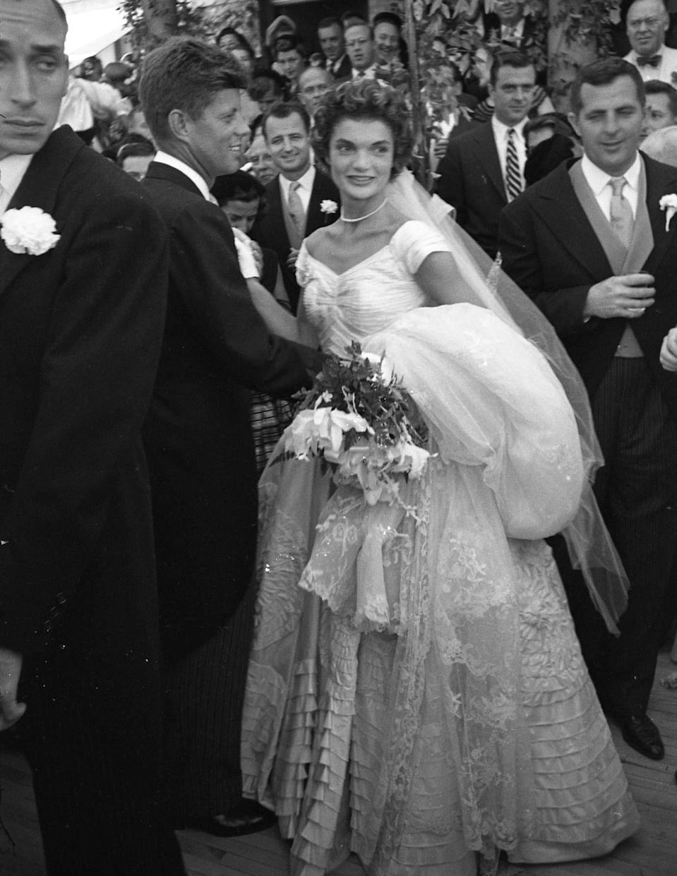 <p>There are few first couples that have left behind a legacy as indelible as John F. Kennedy and Jackie Lee Bouvier, and their Rhode Island nuptials on September 12, 1953 are the closest thing Americans have to a royal wedding. Here's a look at what it was like to be a guest at the historic event.<br></p>