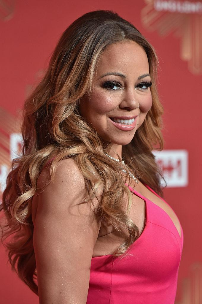 <p>Carey gave birth to twins Moroccan and Monroe aged 42 [Photo: Getty] </p>