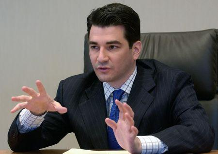 Scott Gottlieb FDA deputy commissioner for policy speaks to reporters at Reuters Health summit in New York