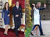 <p>In part due to the setting, Meghan's ensemble was significantly more casual than Kate's, who opted for a silk, navy cocktail dress by Issa. In contrast, Markle chose a simple white wrap coat by Canadian brand, Line, The Label, an ensemble that had more of a relaxed, daytime feel. While we still don't know what the dress underneath looked like – but we will probably find out this evening – it looked like a forest green frock that finished just below the knee and seemed a little more workwear than formal.</p>