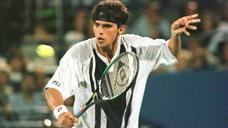 Mark Philippoussis is seen here at the US Open during his playing days.