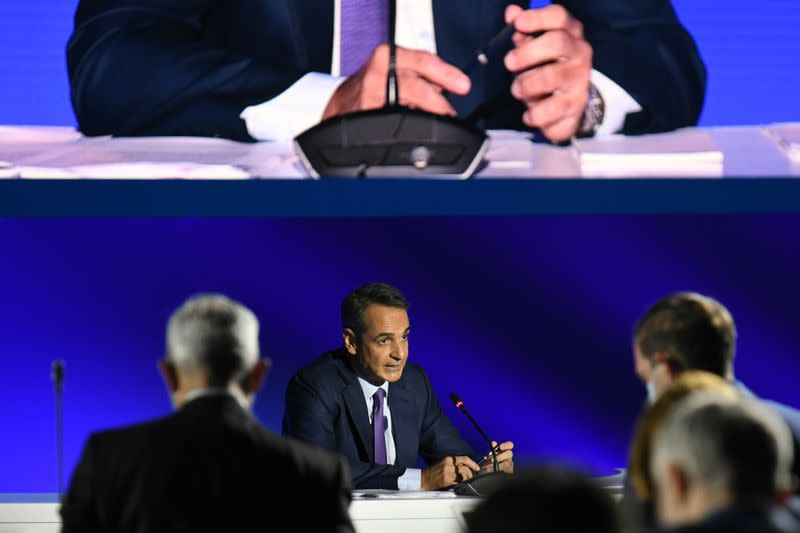 Greek PM Mitsotakis' news conference in Thessaloniki