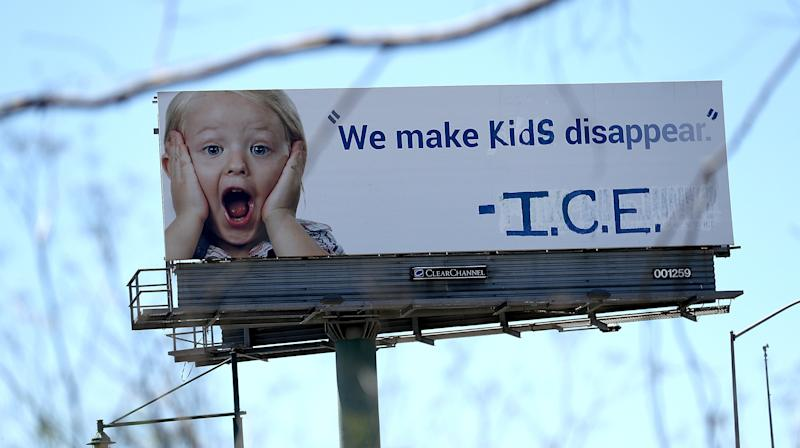California Billboard Credits ICE With Making 'Kids Disappear'