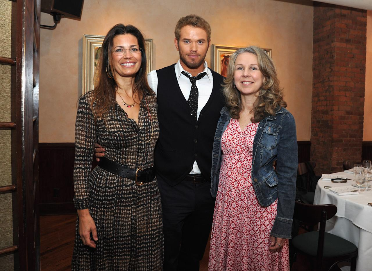 NEW YORK, NY - APRIL 19:  Susannah Grant, actor Kellan Lutz and guest attend the 2012 Tribeca Film Festival Jury lunch at the Tribeca Grill Loft on April 19, 2012 in New York City.  (Photo by Mike Coppola/Getty Images for Tribeca Film Festival)