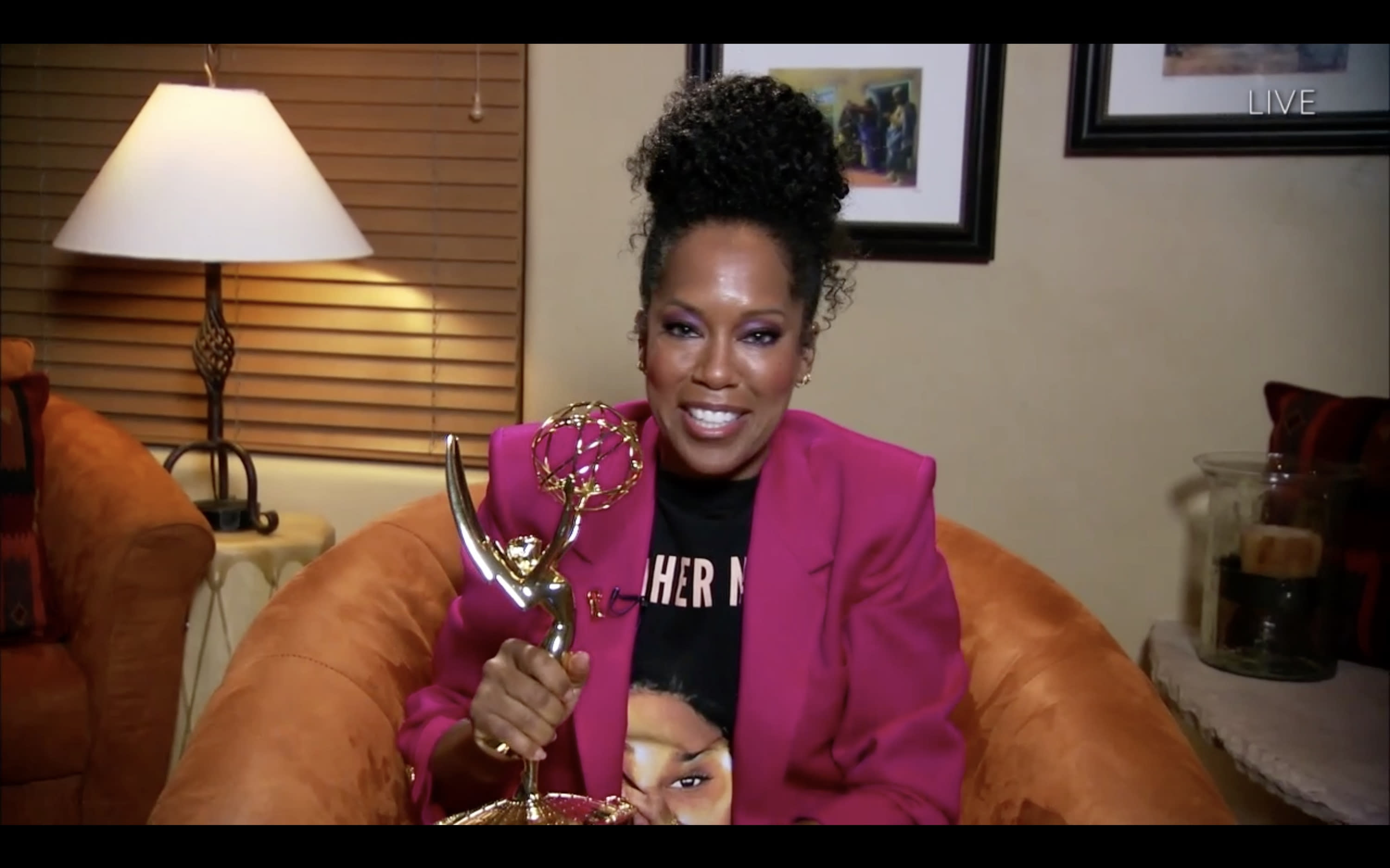 "THE 72ND EMMY® AWARDS - Hosted by Jimmy Kimmel, the ""72nd Emmy® Awards"" will broadcast SUNDAY, SEPT. 20 (8:00 p.m. EDT/6:00 p.m. MDT/5:00 p.m. PDT), on ABC. (ABC via Getty Images) REGINA KING"