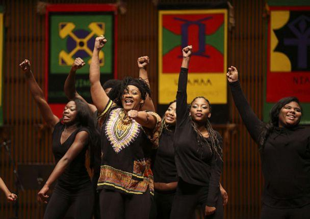 PHOTO: A Hip Hop & Jazz Fusion Dance group perform during We Win Institute's 20th annual celebration of Kwanzaa at the Ordway Center for the Performing Arts in St. Paul, Dec. 26th, 2016. (Jeff Wheeler/Minneapolis Star Tribune via ZUMA Wire via Newscom, FILE)