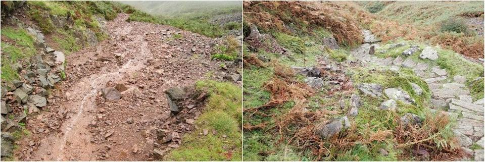 Before and after pictures of Silver How fell in Grasmere (Fix the Fells/PA) (PA Media)